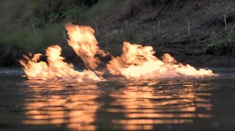 rio em fogo